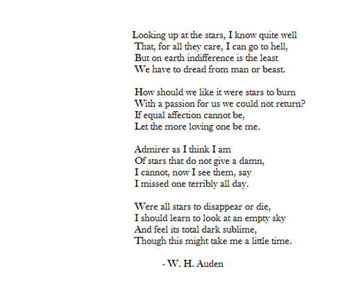 Let the more loving one be me. WH Auden. | Poetry | Pinterest ...