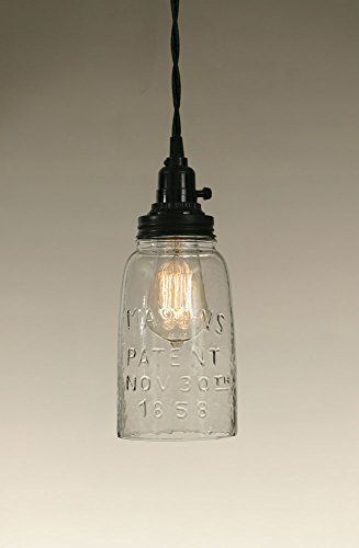 Half Gallon Open Bottom Mason Jar Pendant Lamp Clear Gl