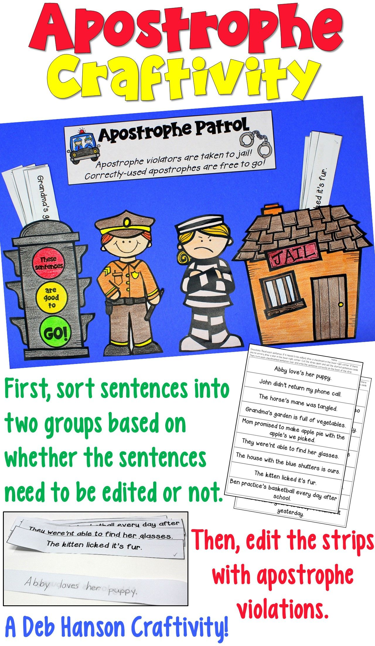 Apostrophe Patrol Craftivity Contractions And Possessives