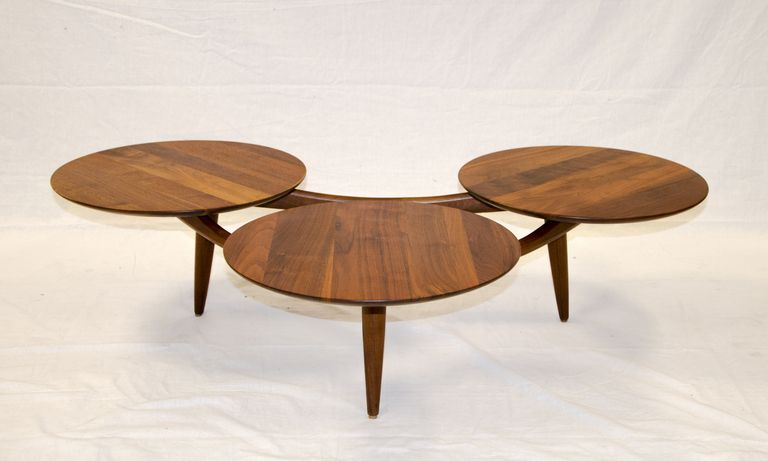 Strange Walnut Coffee Table Three Disks After Greta Grossman Gmtry Best Dining Table And Chair Ideas Images Gmtryco