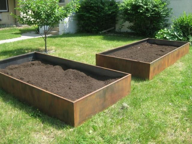 Steel Corten Schonheit Und Stil In Ihrem Garten Garten Gartenliege Gartenprodukte