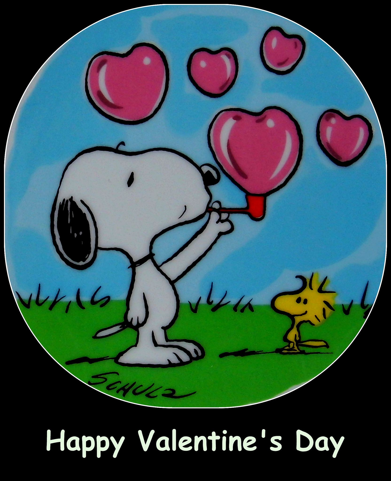 Happy Valentine S Day Greeting From Snoopy And Woodstock Valentine Cartoon Snoopy Valentine S Day Snoopy Valentine