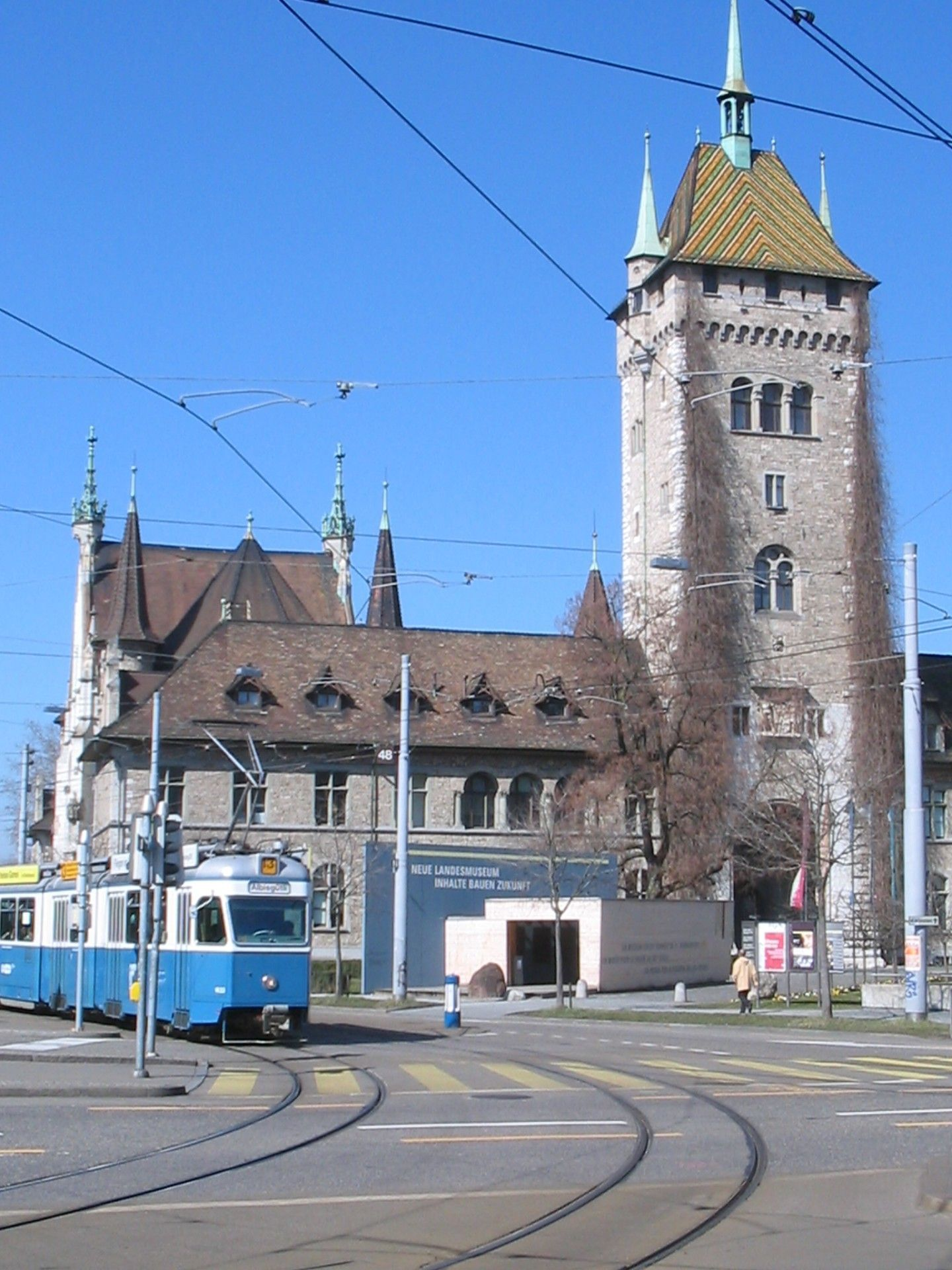 Swiss National Museum Front One Of The Public Transportation Zurich Switzerland Public Transport National Museum