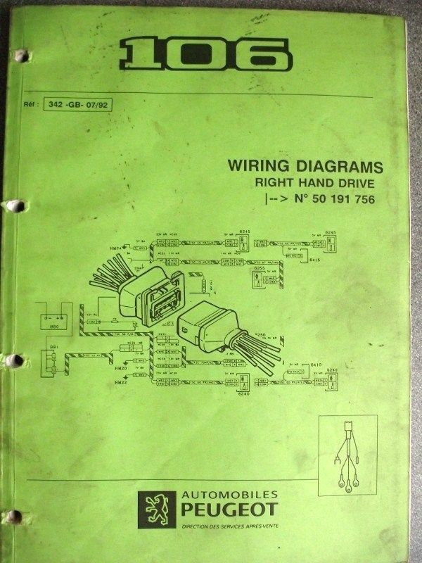 Car Wiring Diagrams Peugeot Wiring Diagram