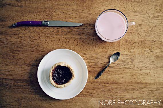 Tartlet Breakfast  M Class by NorrPhotography on Etsy #etsy #photog #photography #food #foodphotography #milk #dessert #recipes #recipeideas #tartlet #minimalism #minimalist