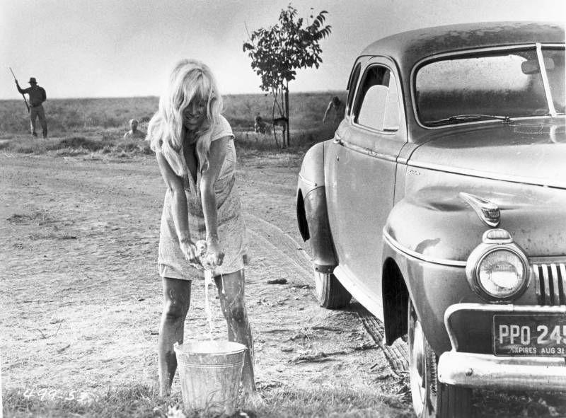 Joy Harmon and a 41 DeSoto Cool hand luke, Car wash