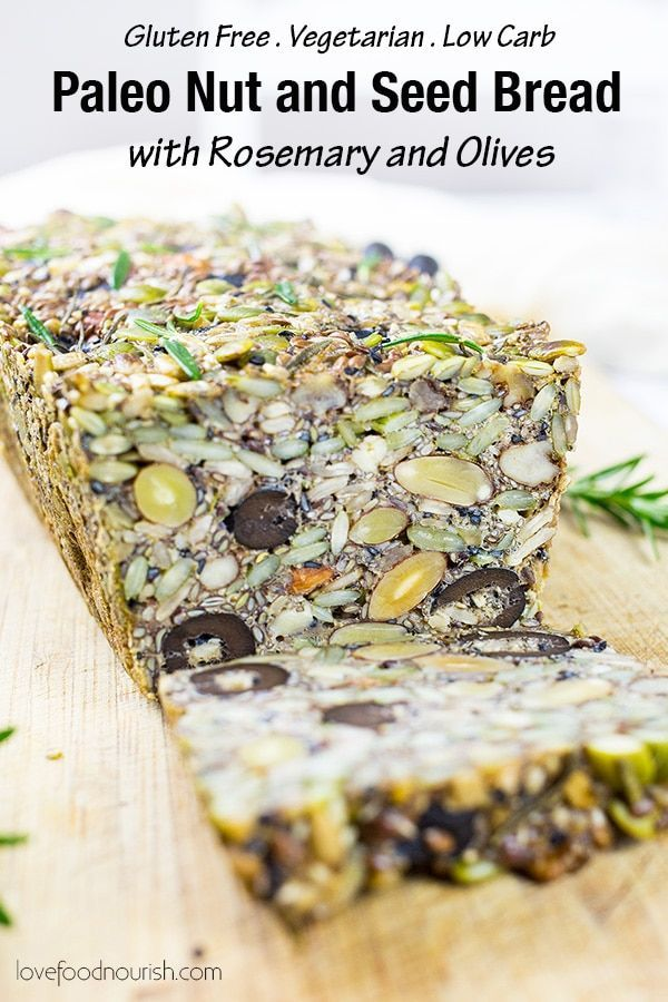 Photo of Paleo Nut and Seed Bread with Rosemary and Olives