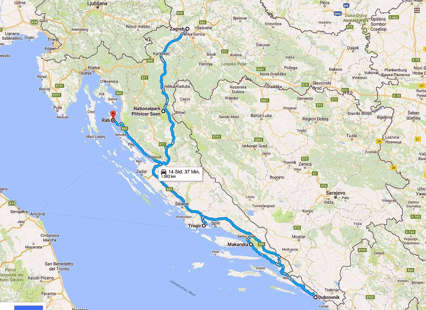 Reiseroute Kroatien Fur Eine Relaxte Familienreise