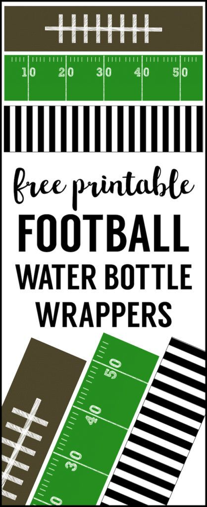 Football Water Bottle Labels Free Printable Cheap Party Decorations For A Superbowl Team Birthday
