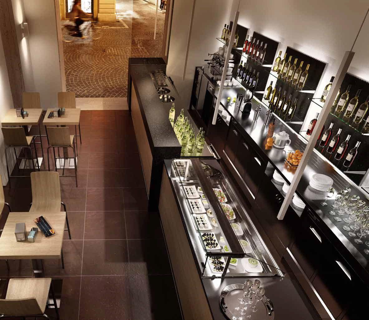 Arredamento bar milano banco bar milano arredamento for Arredamento per ristorante usato