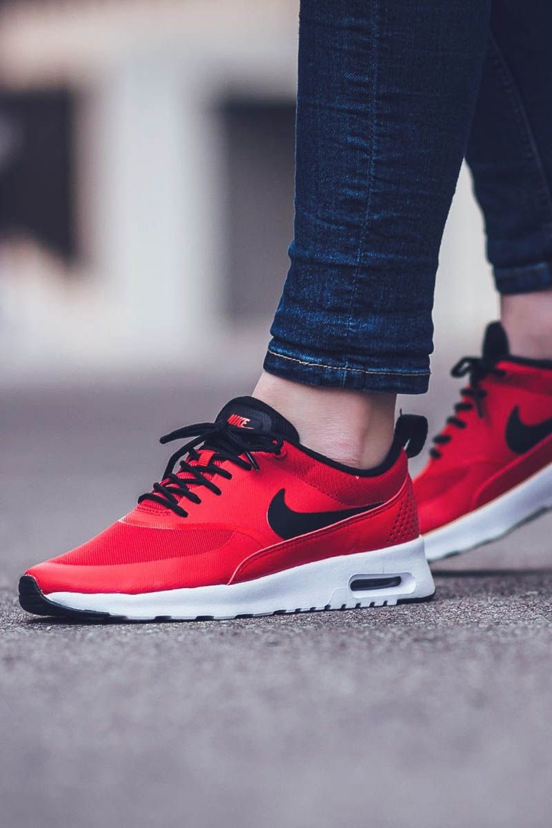 nike women's air max thea running sneaker red bottom