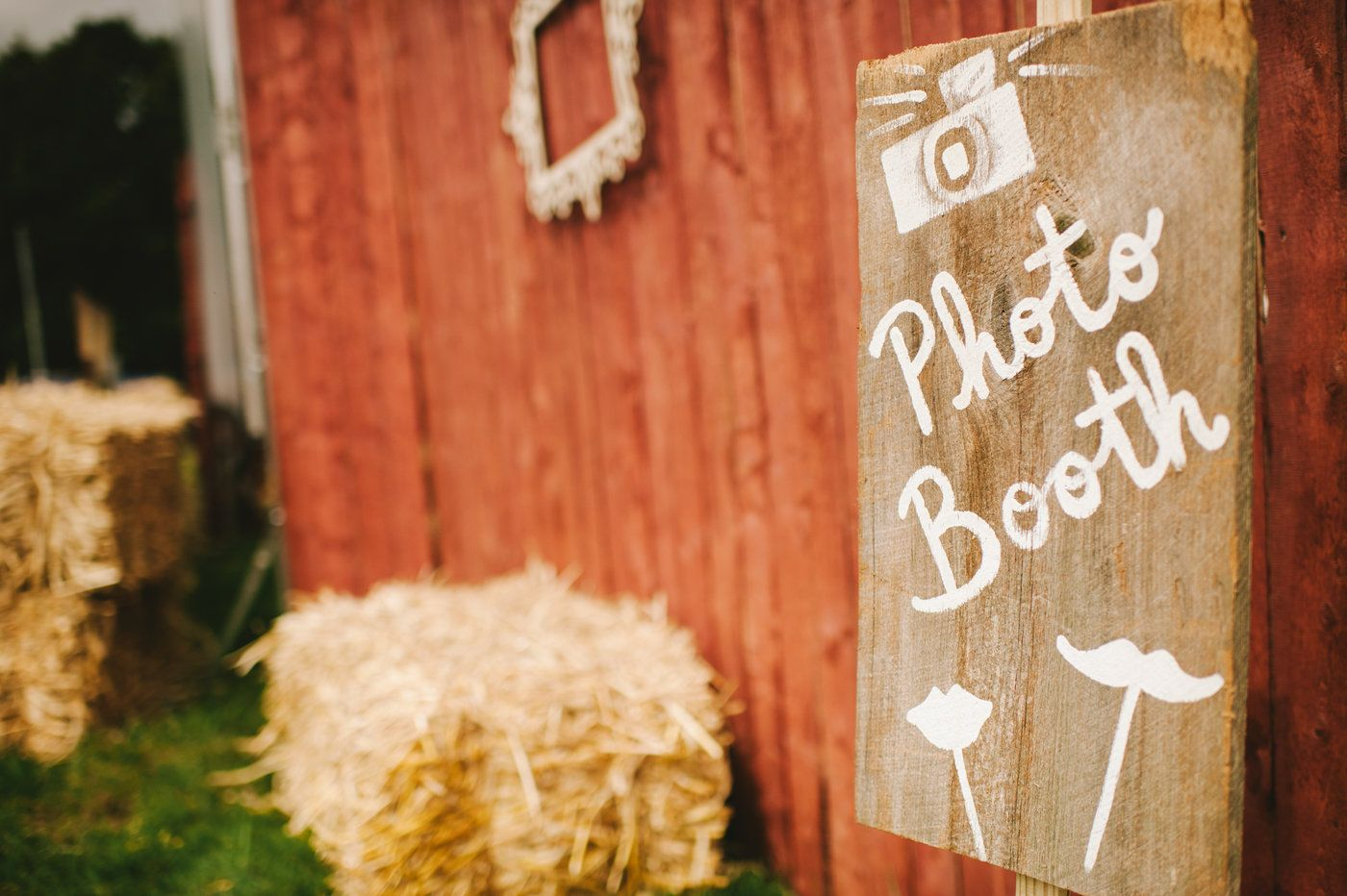Wedding photo booth sign