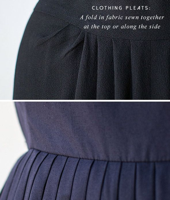 56395bdb2c74 What is the difference between pleats and tucks. | Sewing - Projects ...