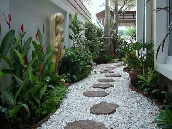 25 idées de design moderne pour votre chemin de jardin   Galet ...