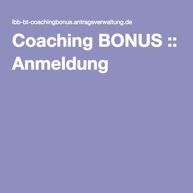 Coaching BONUS :: Anmeldung