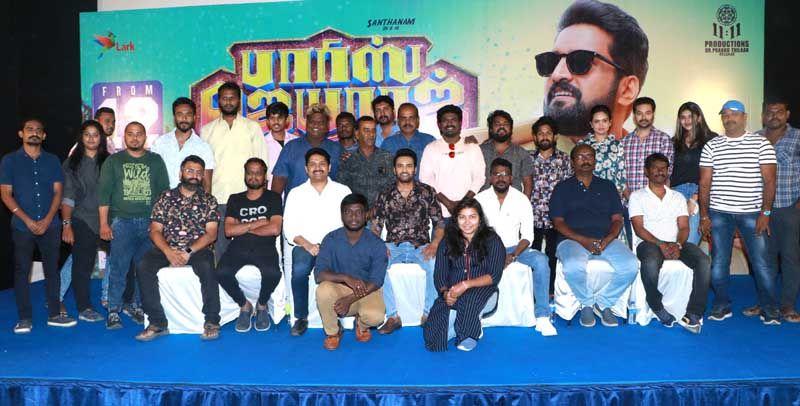 Actor Santhanam Fun Speech @ Parris Jeyaraj Movie Press Meet
