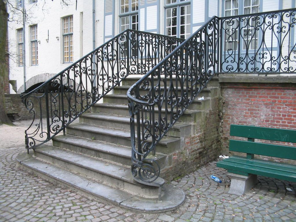 Exterior exterior handrail ideas for outdoor properties - Exterior wrought iron handrails for steps ...