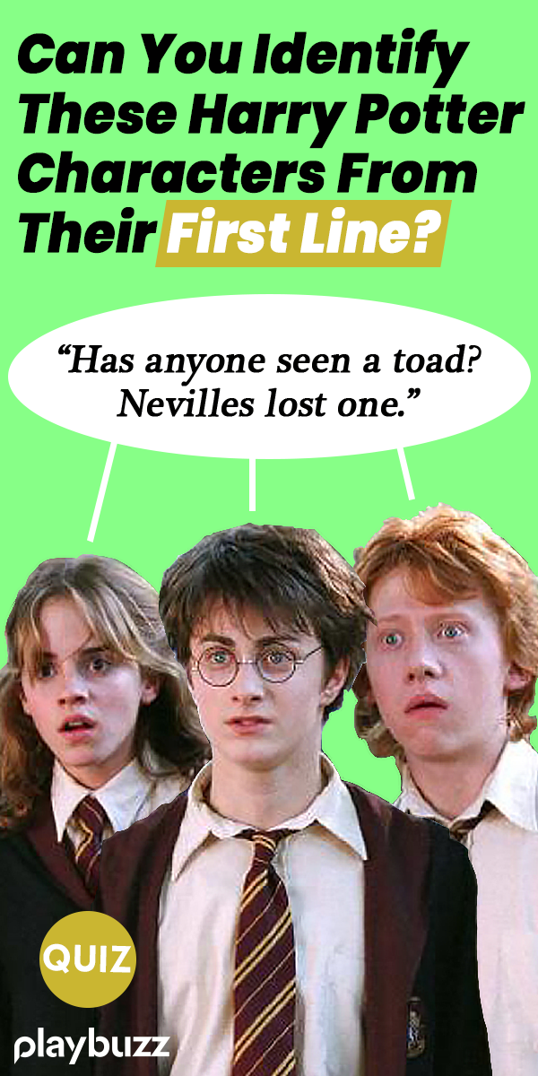 See If You Can Identify These Harry Potter Characters From First Line Harry Potter Buzzfeed Harry Potter Character Quiz Harry Potter House Quiz