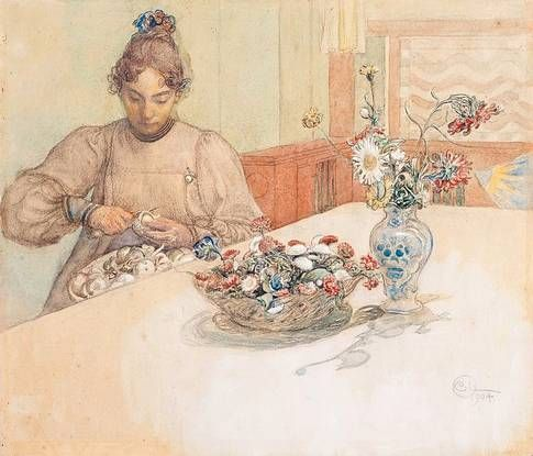 "Carl Larsson ""Kain skalar äpplen"" 1904"