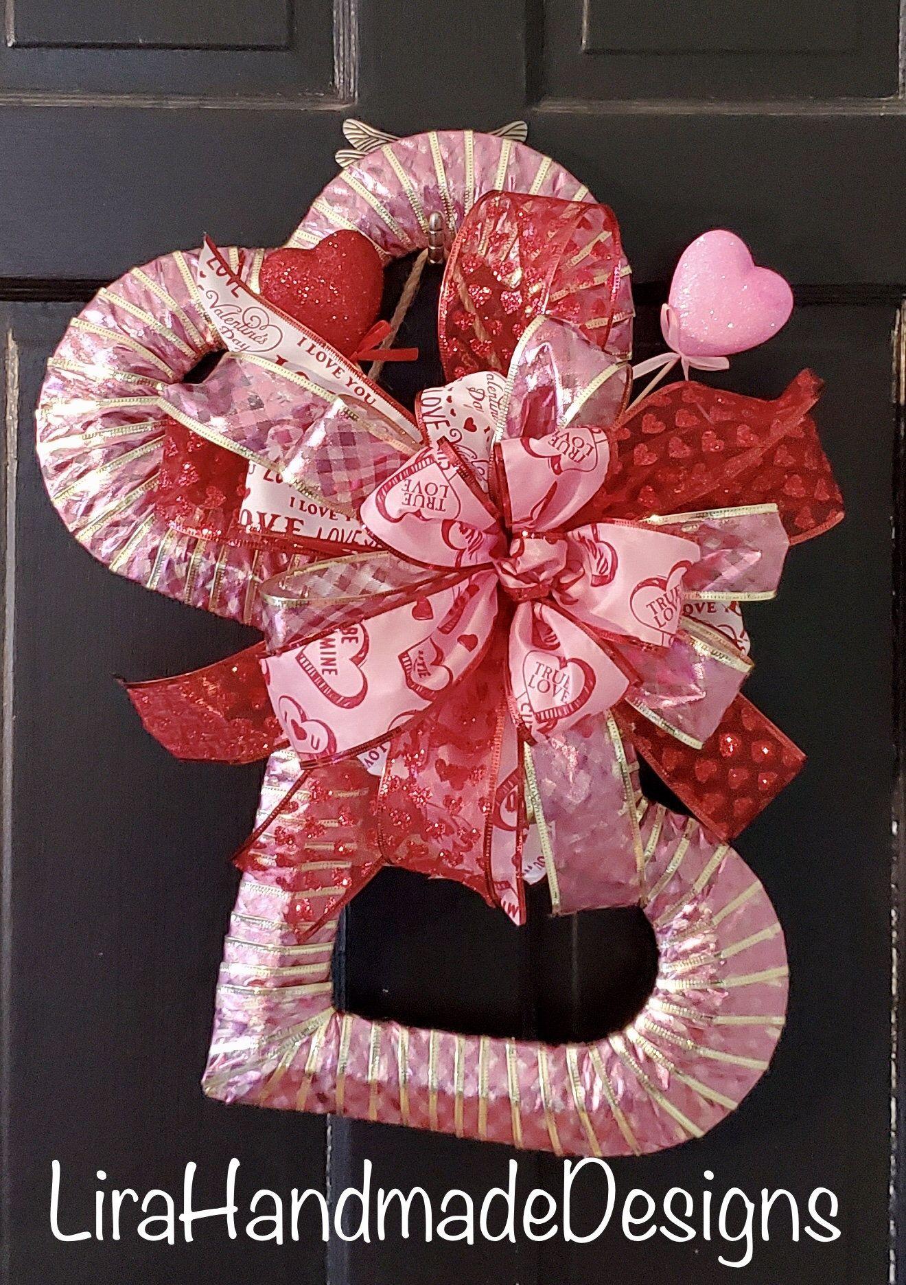 Photo of Double Heart Ribbon Wreath