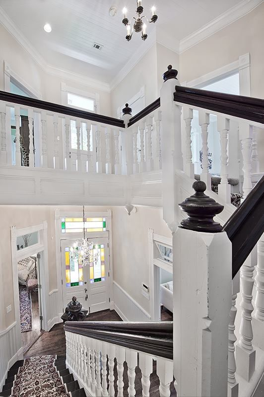 A White Gingerbread Victorian For In San Marcos Interiors Modern Homes