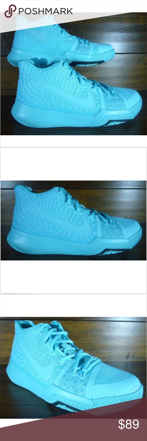 38844b008d81 Nike Kyrie 3 GS Aqua Basketball Shoes Grade School Nike Kyrie 3 GS Aqua  Basketball Shoes
