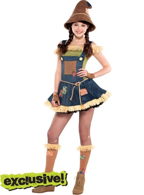 sweet scarecrow costume for teen girls party city ill mach caleb