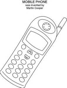 phone coloring pages mobile phone coloring printable great inventions