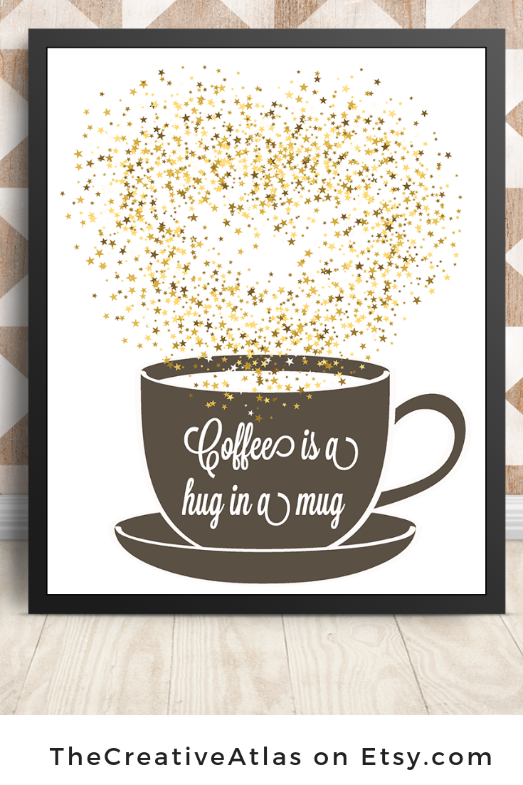 Coffee Printcoffee Quotes Art Printablecafe Wall Art Etsy In 2021 Coffee Wall Decor Kitchen Art Prints Coffee Wall Art