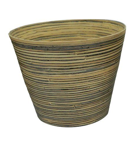 Listo Natural Elegance Bamboo Planter 12Inch Bamboo Black * Click image for more details.
