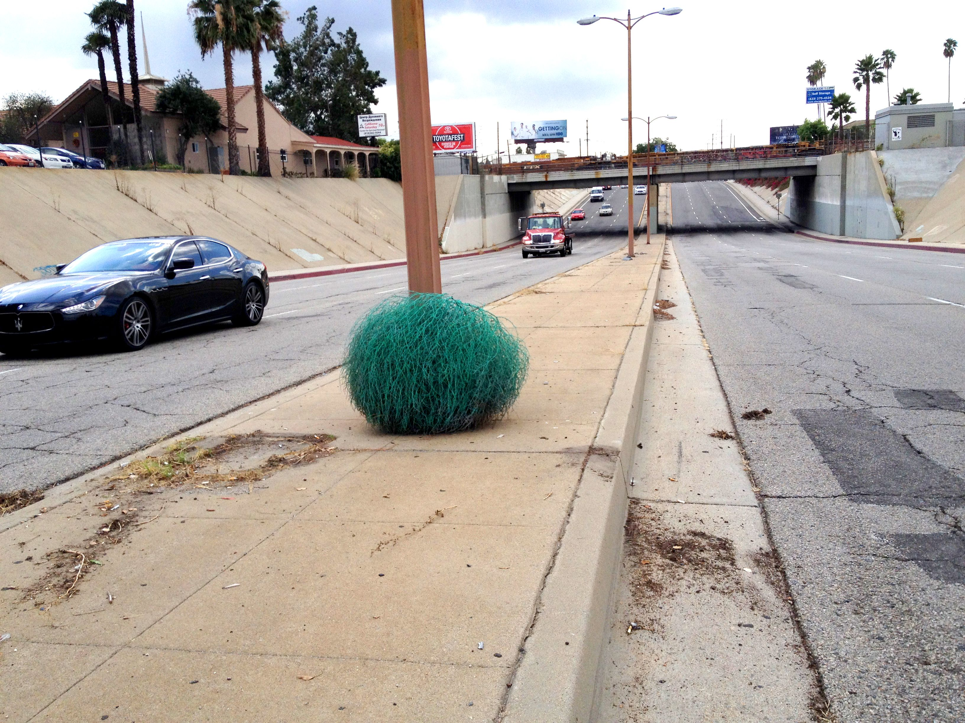 Color car los angeles - Painted Tumbleweed By Charles Level Los Angeles Blue Color Streets As A Museum Space
