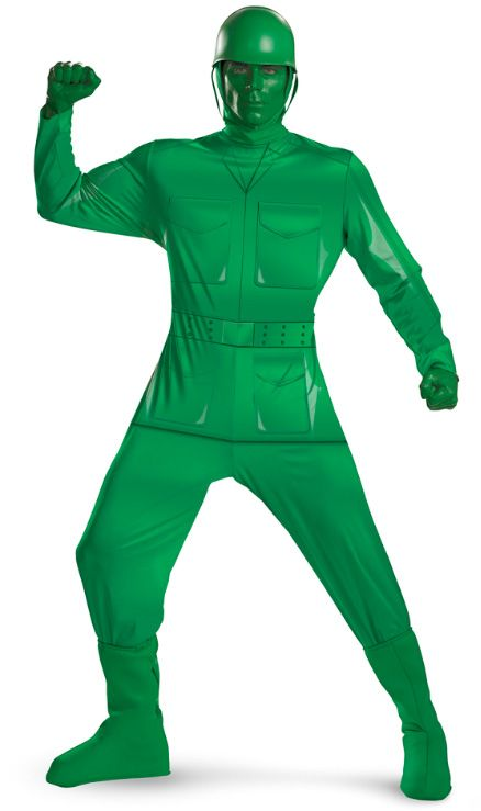 Toy Soldier Costume - Green Army - Funny Costumes at Escapade™ UK - green dress halloween costume ideas
