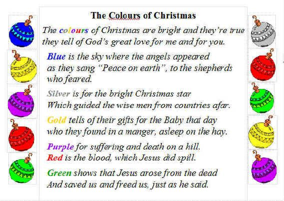 Christmas Poems for Church Bulletins Advent1lesson the colours - church program