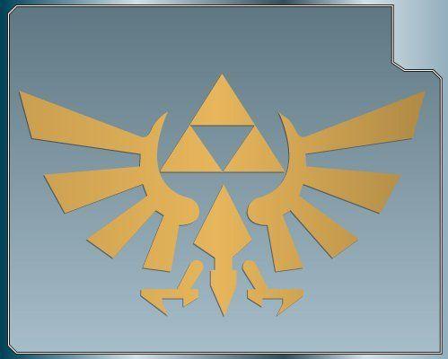 "Legend of Zelda Hyrule Crest TriForce Logo 6/"" Decal Sticker Car Window Laptop"