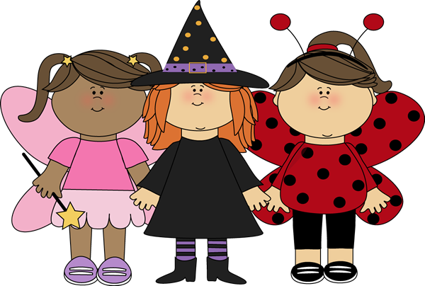 Cute Halloween Clip Art Girl Trick Or Treaters Clip Art Image