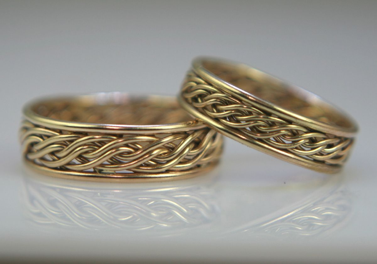 Woven Wedding Bands Mens Wedding Rings Braided Wedding Band Wedding Anniversary Rings