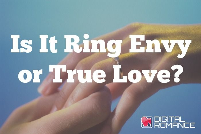 Is It Ring Envy or True Love? - Do you swoon and dream of your wedding whenever you spot a shiny diamond solitaire on the finger of a happy bride to be? Meena Avery talks about how to differentiate between feelings of real love with a partner you really want to spend your life with and simple ring envy. #engagements #love #advice
