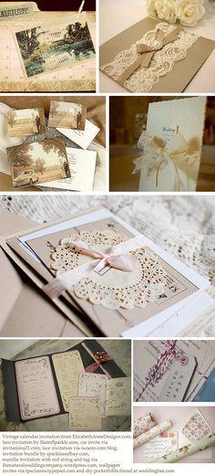 How to make vintage wedding invitations   The English Wedding Blog & Calligraphy for Weddings