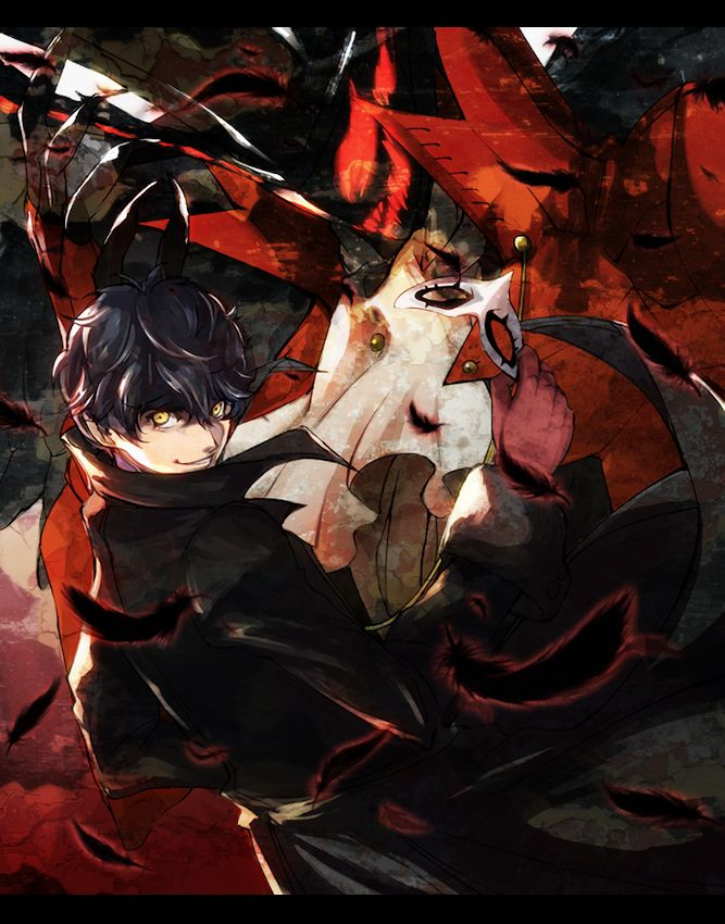Persona 5 Protagonist And Arsene With Images Persona 5 Joker