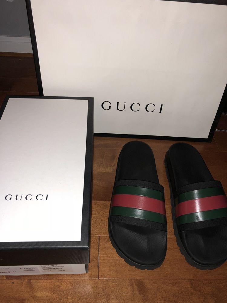 bba756d2722 Gucci Pursuit Trek Slides Size 12  fashion  clothing  shoes  accessories   mensshoes  sandals (ebay link)