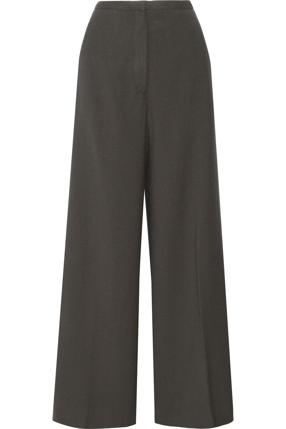 Cropped Wool-gabardine Wide-leg Pants - Midnight blue Christophe Lemaire tWh6l