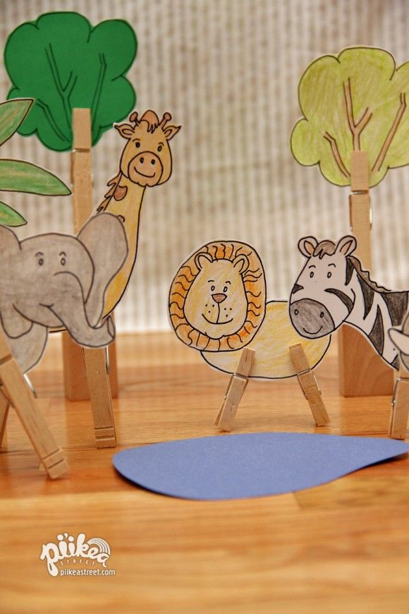 Clothespin jungle: arts and crafts, plus pipe cleaner crafts