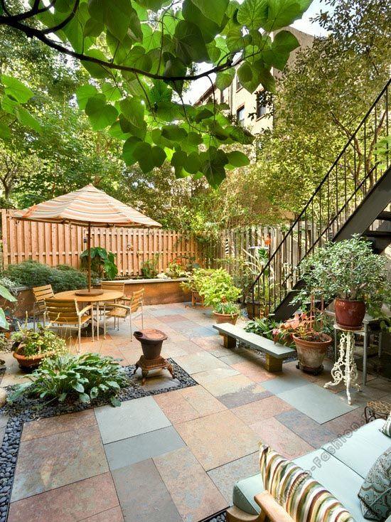 garten terrasse boden fliesen idee natur | haus - außen - pflaster, Terrassen ideen