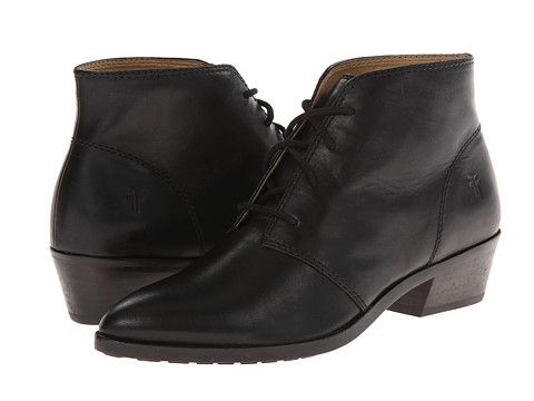 Frye Ruby Chukka Black Smooth Vintage Leather Zappos Com