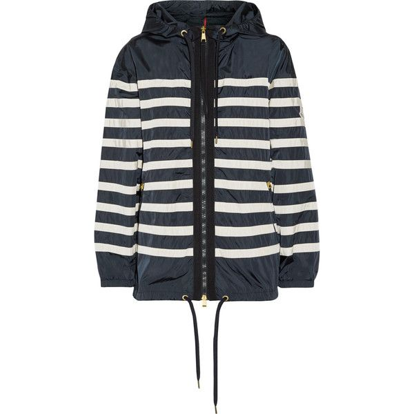 42e1076a2 Moncler Hooded striped shell jacket (€615) ❤ liked on Polyvore ...