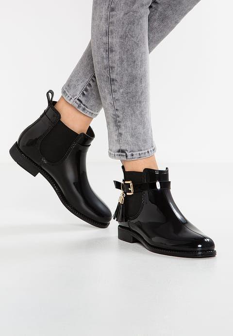 Andre JAMES Bottes noir Chaussures en caoutchouc black 0wOPkn