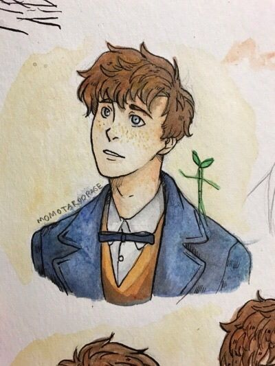 Image de drawing, fantastic beasts, and newt scamander | to