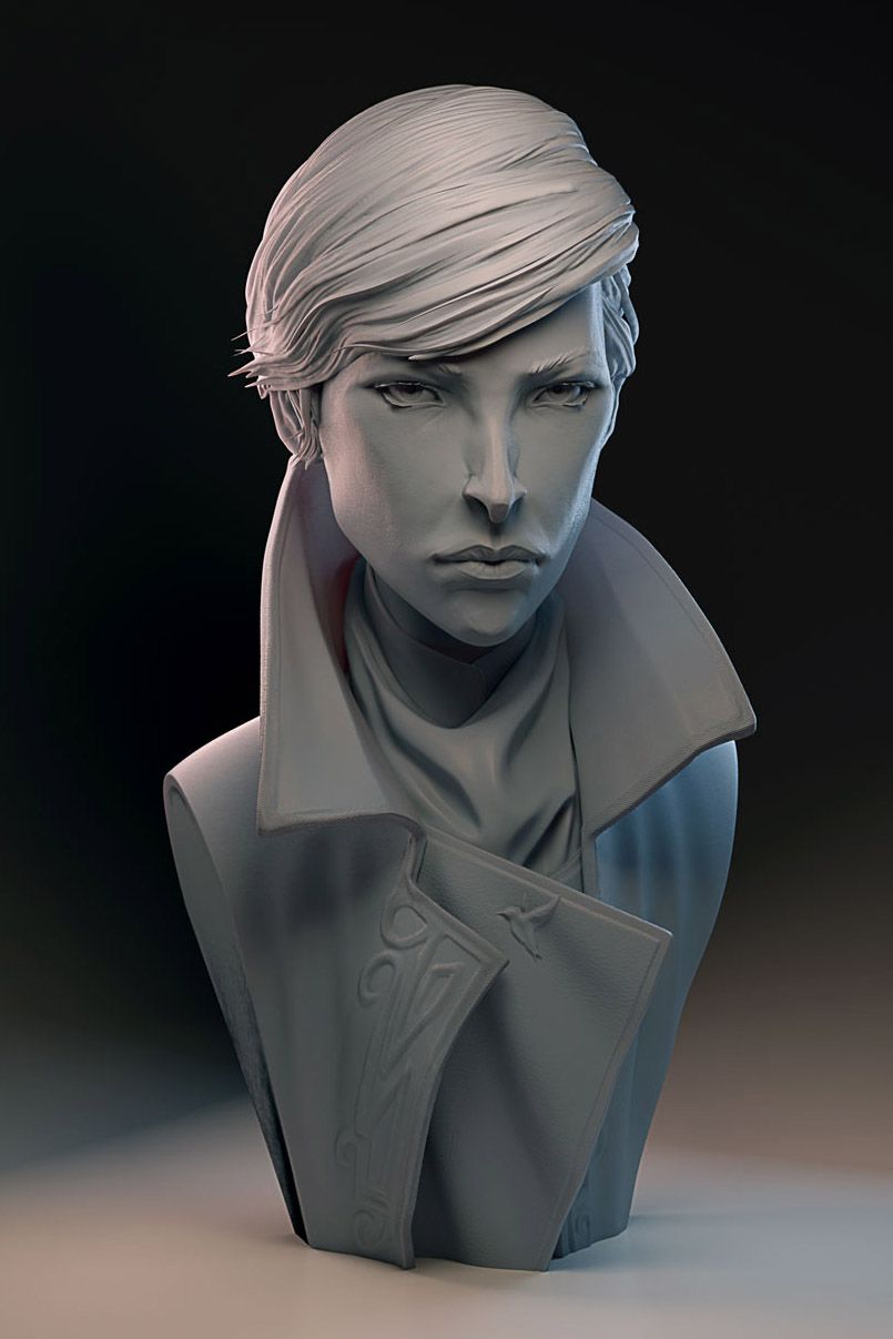 """Is this some kind of bust?"" - my zbrush works"