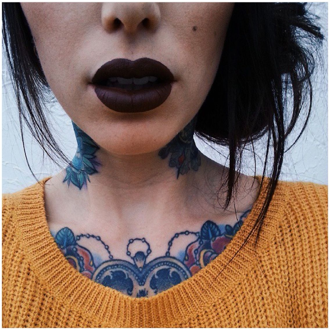 Limecrime Velveteen, Makeup, Neck Tattoos, Chest Piece
