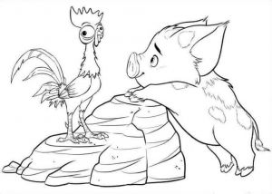 Pua And Heihei Coloring Page Moana Coloring Moana Coloring Pages Disney Coloring Pages